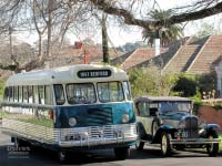 1947 Bedford OB bus with 1930 Pontiac car
