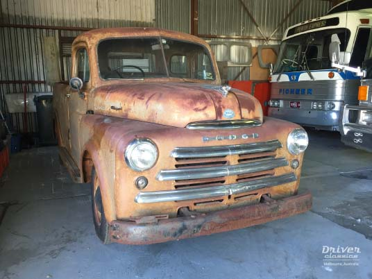1950 Dodge Pilot House Pick Up Truck. Looks like tow mater from cars