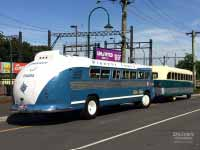 1954 Flxible Clipper bus back
