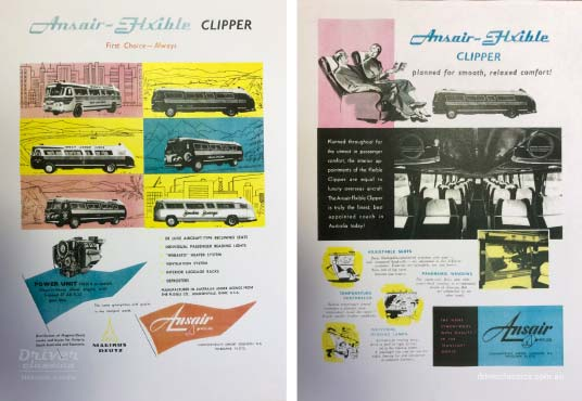 Ansair Flxible Clipper Advertisement, circa 1957.
