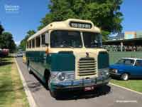 1959 Bedford SB3 bus front and side, 1959 version, Yarra Glen VIC, Photo taken November 2018