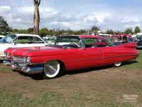Red 1959 Cadillac Coupe de Ville