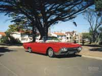 1962 Ford Thunderbird Roadster with top down at Mornington, Melbourne, Australia