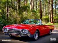 Ford Thunderbird Roadster 1962 version, front and side, Dandenong Ranges, Grants Picnic Ground, Photo taken Dec 2019
