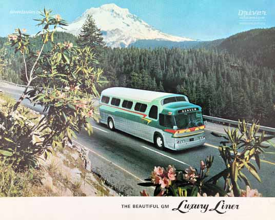1965 General Motors PD 4107 bus brochure cover