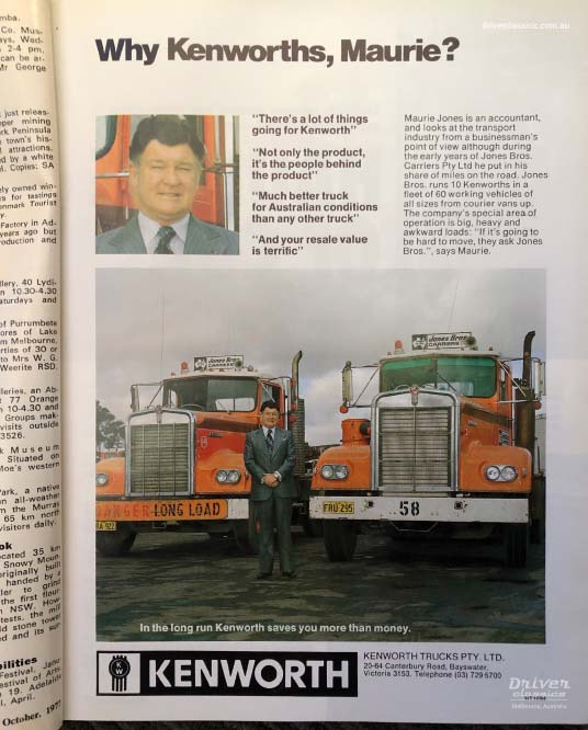 Kenworth Advertisement in Truck and Bus Transportation magazine, October 1977
