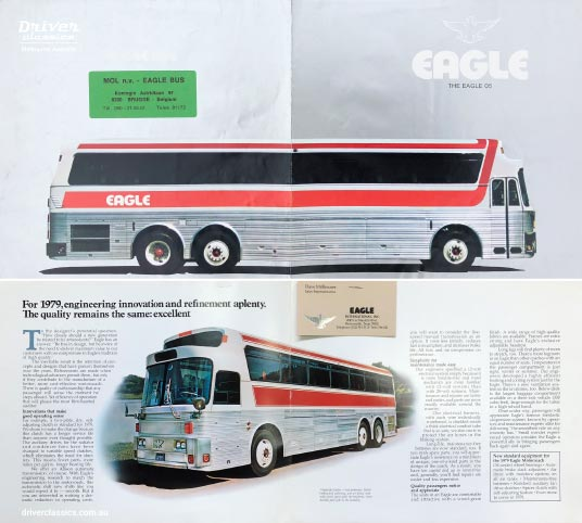 1979 Eagle Model 05 bus brochure and pages