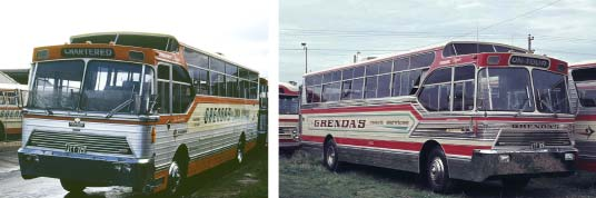 Denning Square Line Buses, 1966 version, Grenda colours.