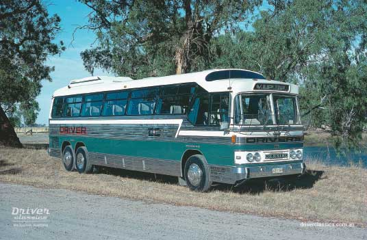 GM Denning Denair bus (1980 version), Katamatite, Victoria, 1981