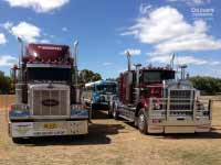 Kenworth W925 and Peterbuilt trucks