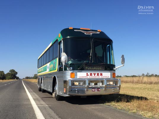 1989 Eagle Model 20 bus on side of road near Murchison Victoria