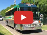 Eagle Model 20 Bus, 1989 version, Yarra Glen, Australia. Video taken November 2018.